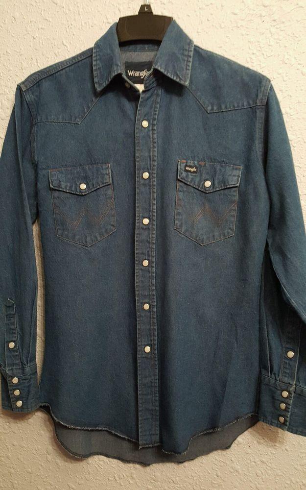 6235ea65 Wrangler - Snap Shirt, medium, mens, Western Snap shirt, denim, long  sleeve! #Wrangler #WesternSnapShirt