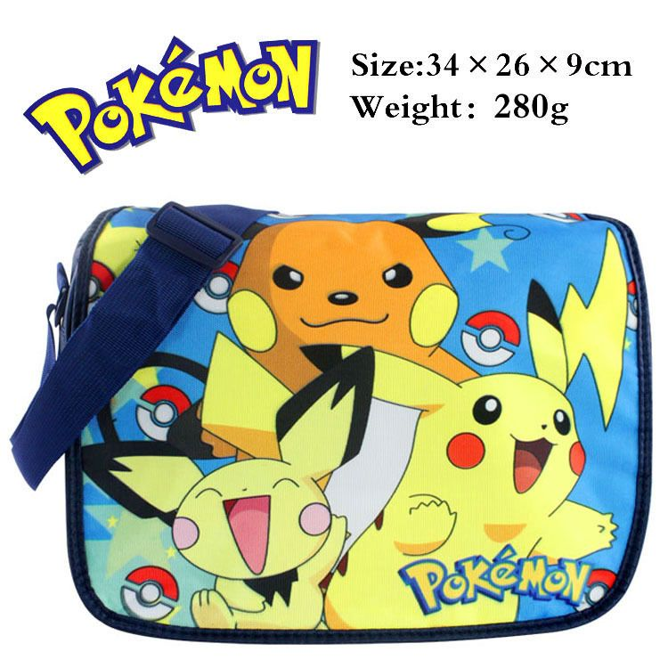 f0c792d168 Anime Pokemon Pikachu Messenger Shoulder School Bag For Students Kids  Children Boys Girls Canvas Bags