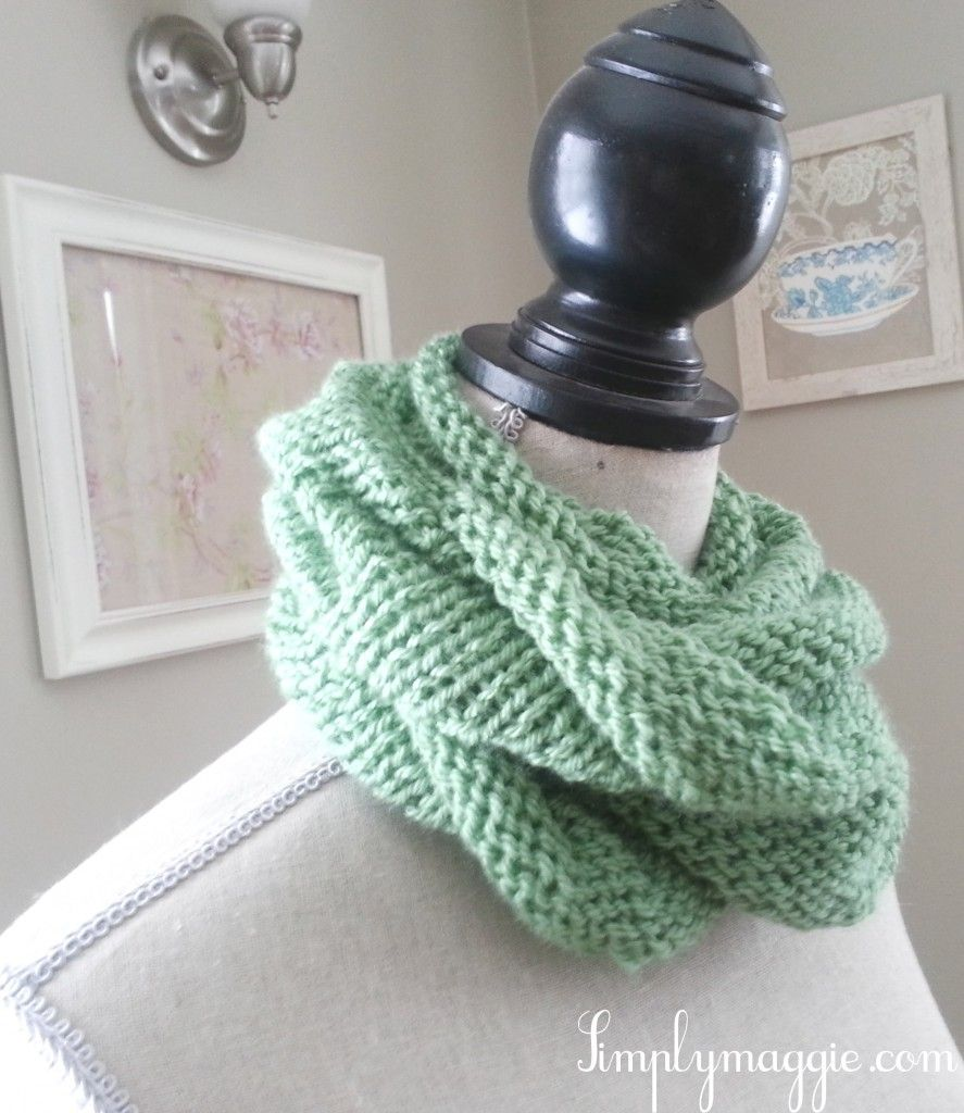 Spring Knit Infinity Scarf With Pattern Simplymaggie To
