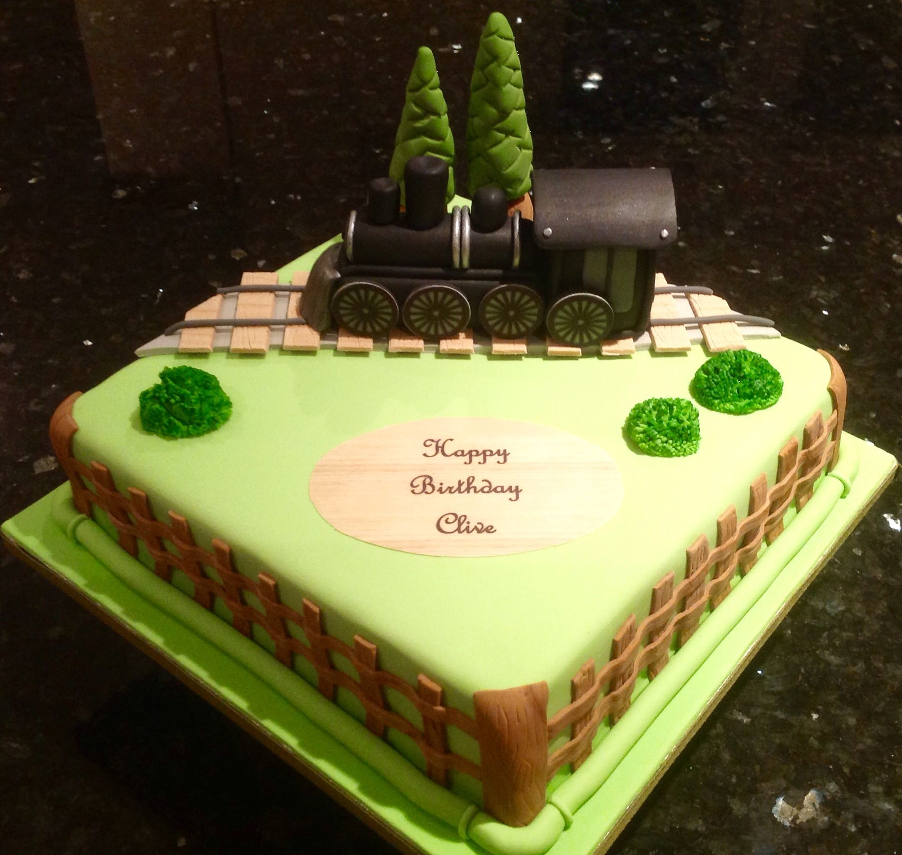 Steam Train Birthday Cake