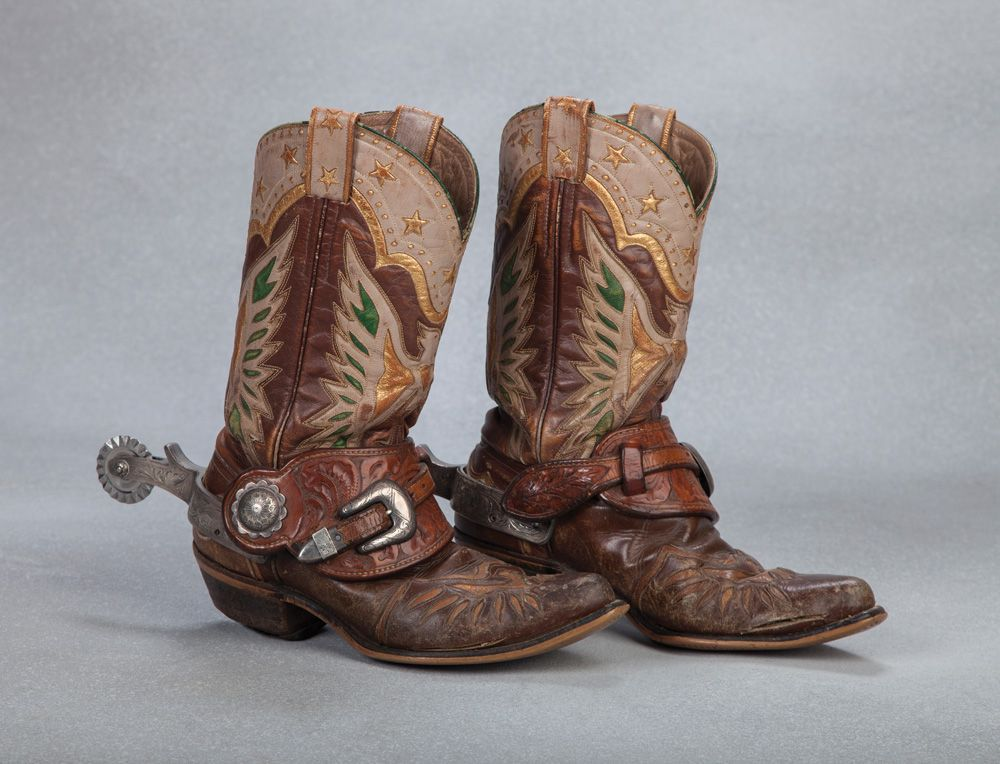Roy Rogers39 Eagle Boots And Bohlin Spurs Western Cowboy