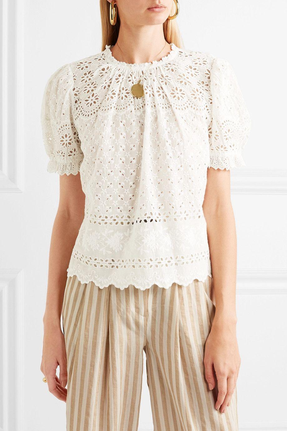 7bc53835b9c835 Ulla Johnson | Desi broderie anglaise cotton top | NET-A-PORTER.COM ...