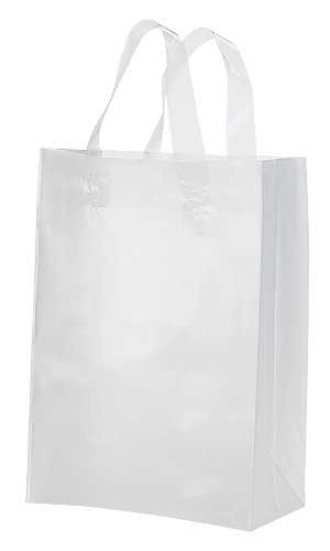 20 Pack Frosted Soft Loop Handle Bags 8 X 10 In Boutique Chic Plastic Shopping Bags Retail Bags Bags