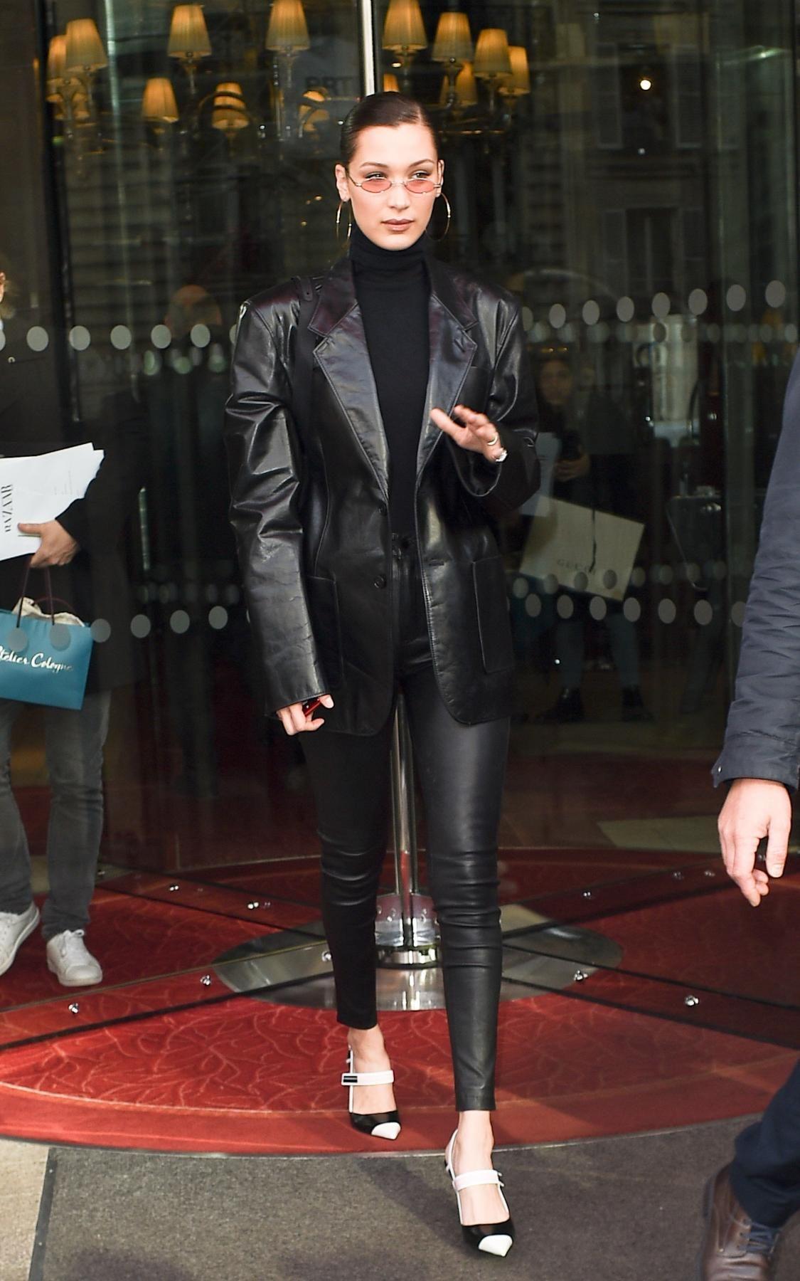Bella Hadid wearing Prada Slingback Pumps  bellahadid  bellahadidstyle 1256abf93c