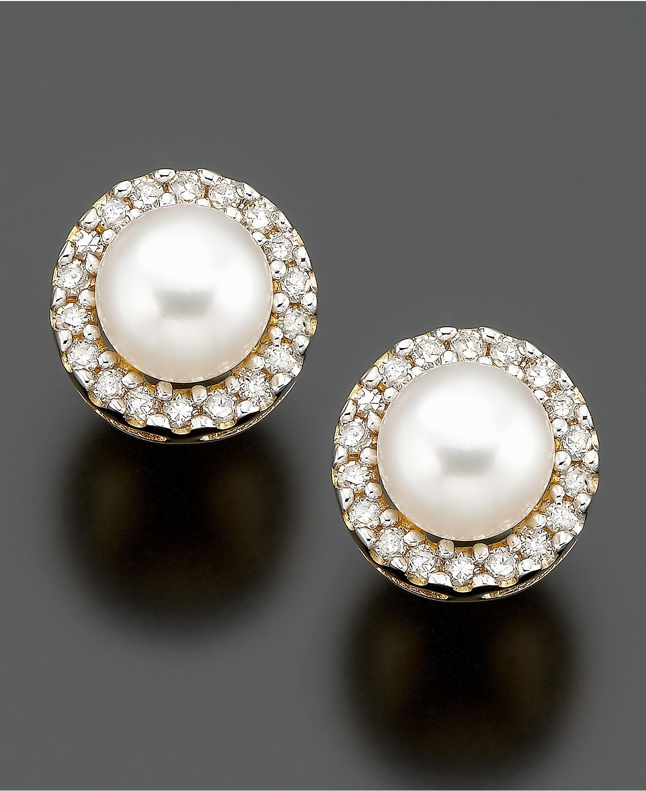 Every Girl Needs A Pair Of Stud Pearl And Diamond Studsassic