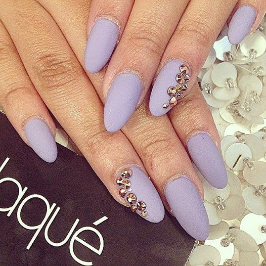 Lavender Acrylic Nails Done At Laque Nail Bar