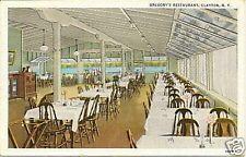 1940s Gregory S Restaurant Clayton Ny 1000 Islands Postcard