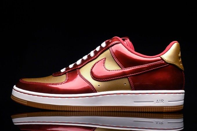 pretty nice 9d6e8 1a8e0 Nike AF1 Downtown LTH QS  Iron Man  Gold - Red