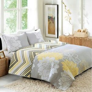 Better Homes Gardens Gray And Yellow Quilt Love The Chevron