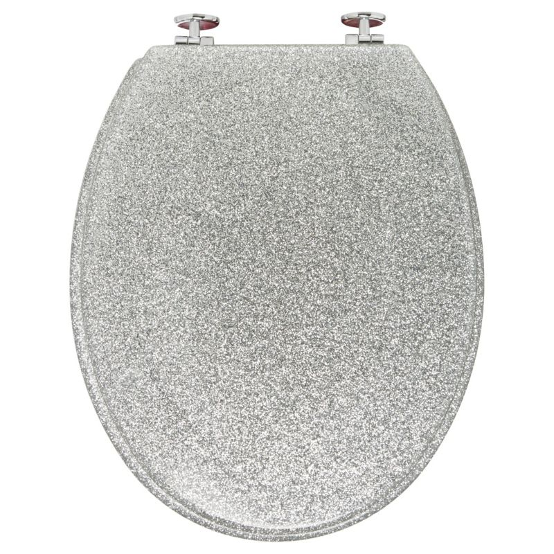 Tremendous Silver Glitter Toilet Seat By Asda Homeware Glitter Toilet Gmtry Best Dining Table And Chair Ideas Images Gmtryco