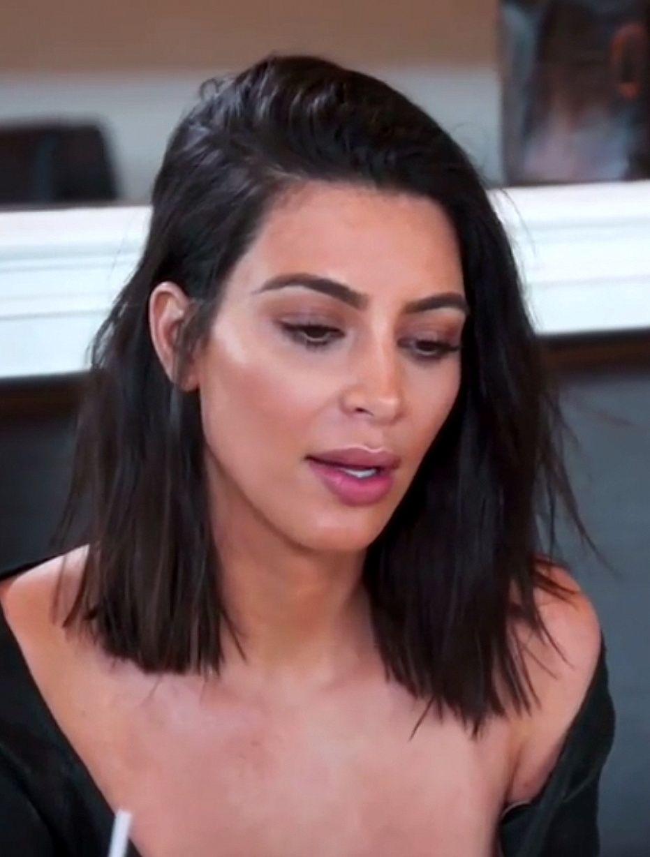 Kim Kardashian Short Hair Haircut Hairstyles For Short Hair Short Hair Balayage Lob Hairstyle Medium Hair Styles