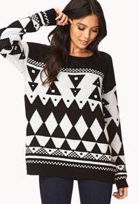 Geo Boyfriend Sweater- F21