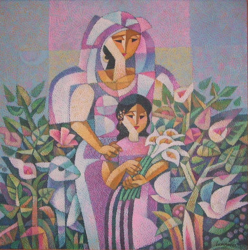 Mother and Daughter, by Ninoy Lumboy, a Filipino artist