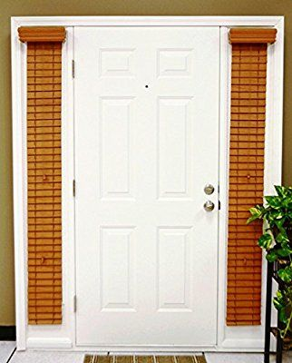 Faux Wood Sidelight Blinds For Doors 2 Inch Slats Pearl White