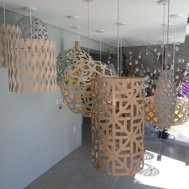 A Dynamic Showroom Display Of David Trubridge Lighting At Allumé Iluminação  In Recife, Brasil.