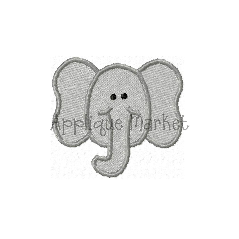 Machine Embroidery Design Elephant Mini INSTANT DOWNLOAD   Pinterest ...