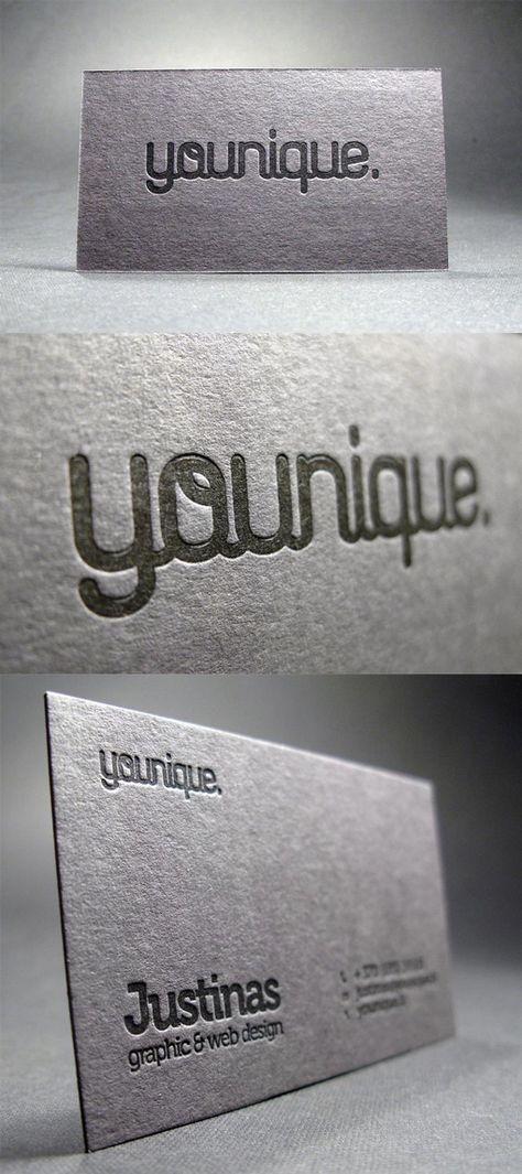 Creative Typography Business Card
