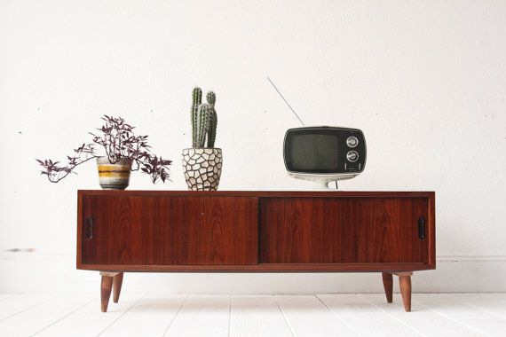 Danish Rosewood Low Credenza Mid Century Console Sideboard Mid Century Console Sideboard Console Mid Century Modern Credenza