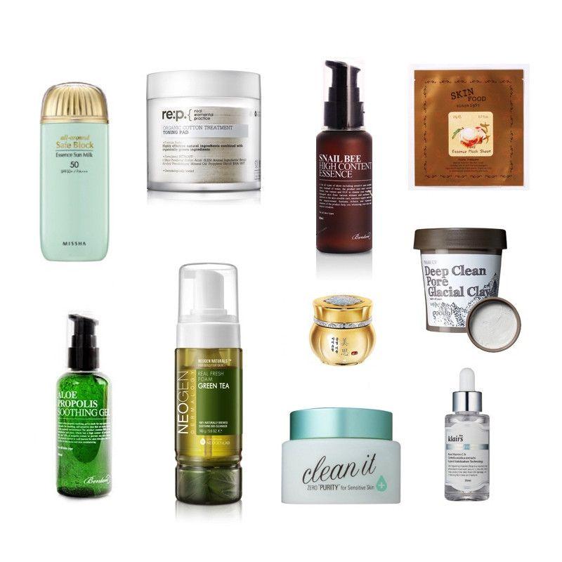 Best Skin Care Routine: 10-Step Korean Skin Care Routine Set (Oily Skin Type