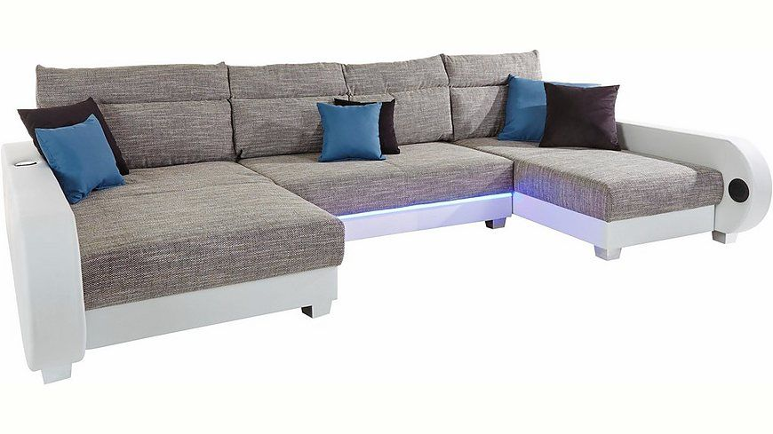 Marvelous Collection AB Wohnlandschaft inklusive LED Beleuchtung wahlweise mit Audio Bluetooth USB Jetzt
