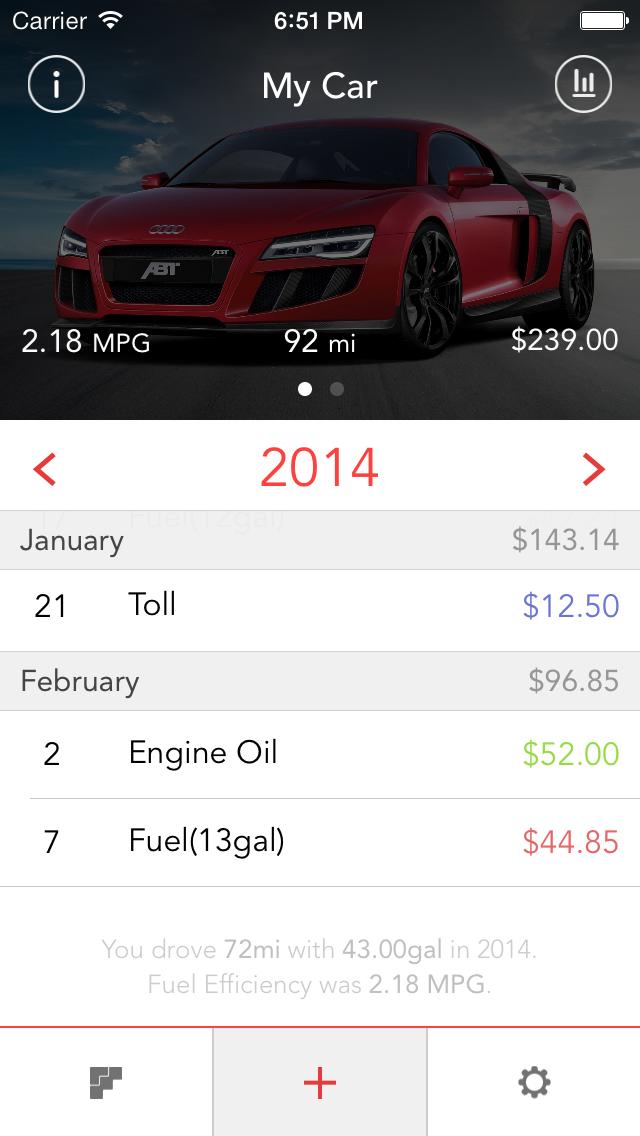 car maintenance fuel log app drivrlog app ui design pinterest