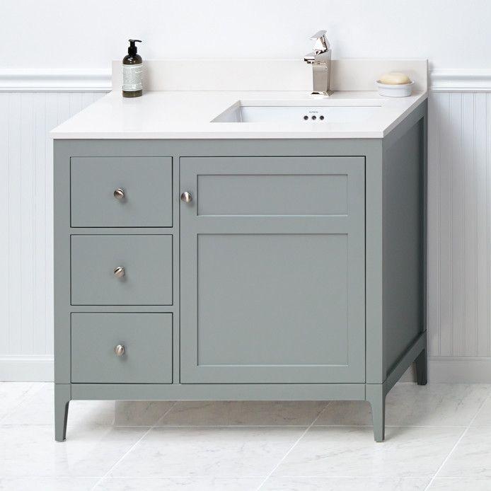 briella 36 bathroom vanity base in ocean gray products rh pinterest at