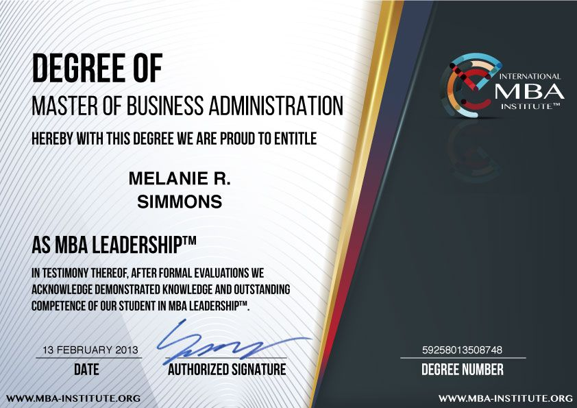 Accredited Online Mba Degree From International Mba Institute Masters In Business Administration Online Mba Degree Program