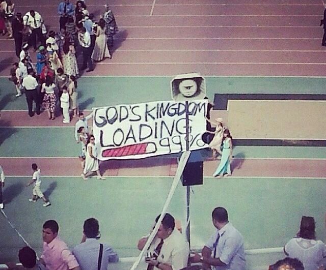 God's kingdom loading 99% . So close. See yourself there :)
