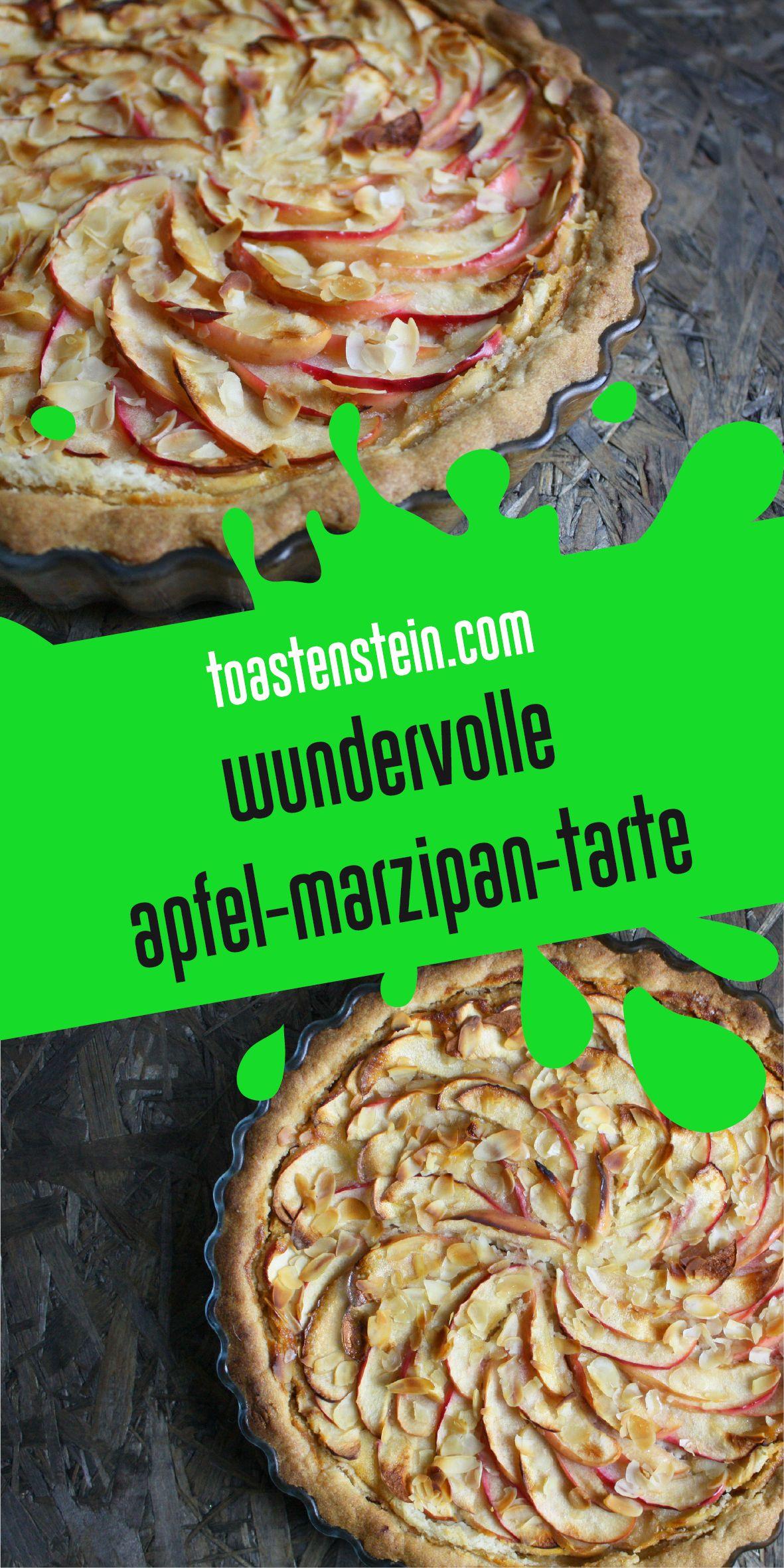 Winterweihnachtlich lecker – Apfel-Marzipan-Tarte // www.toastenstein.com // vegan food blog