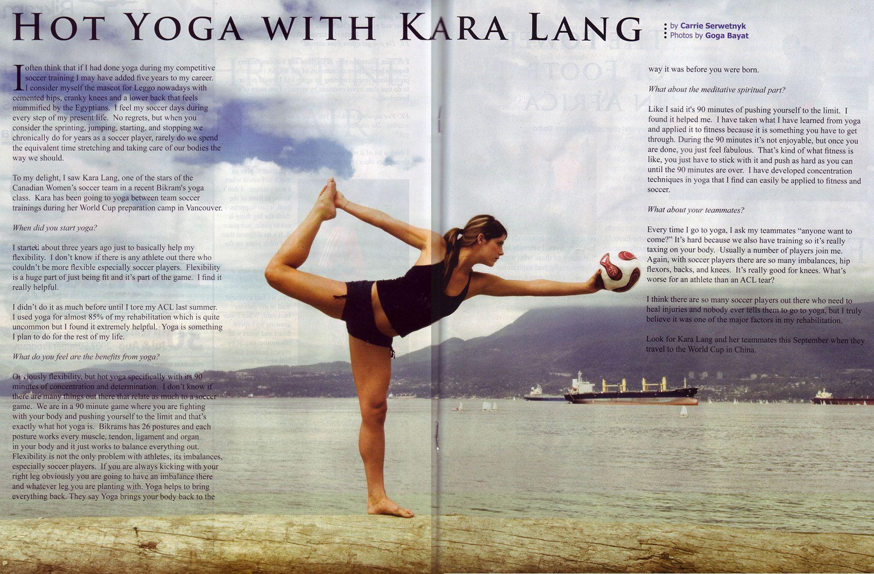 Yoga For Soccer Hot Yoga Yoga Free Kick