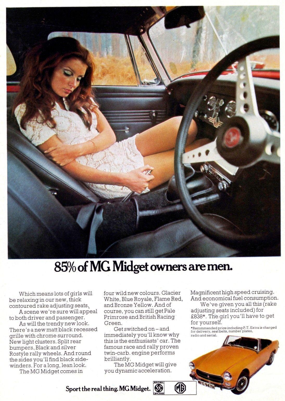 1970 mg midget advert poster print mg midget car ads