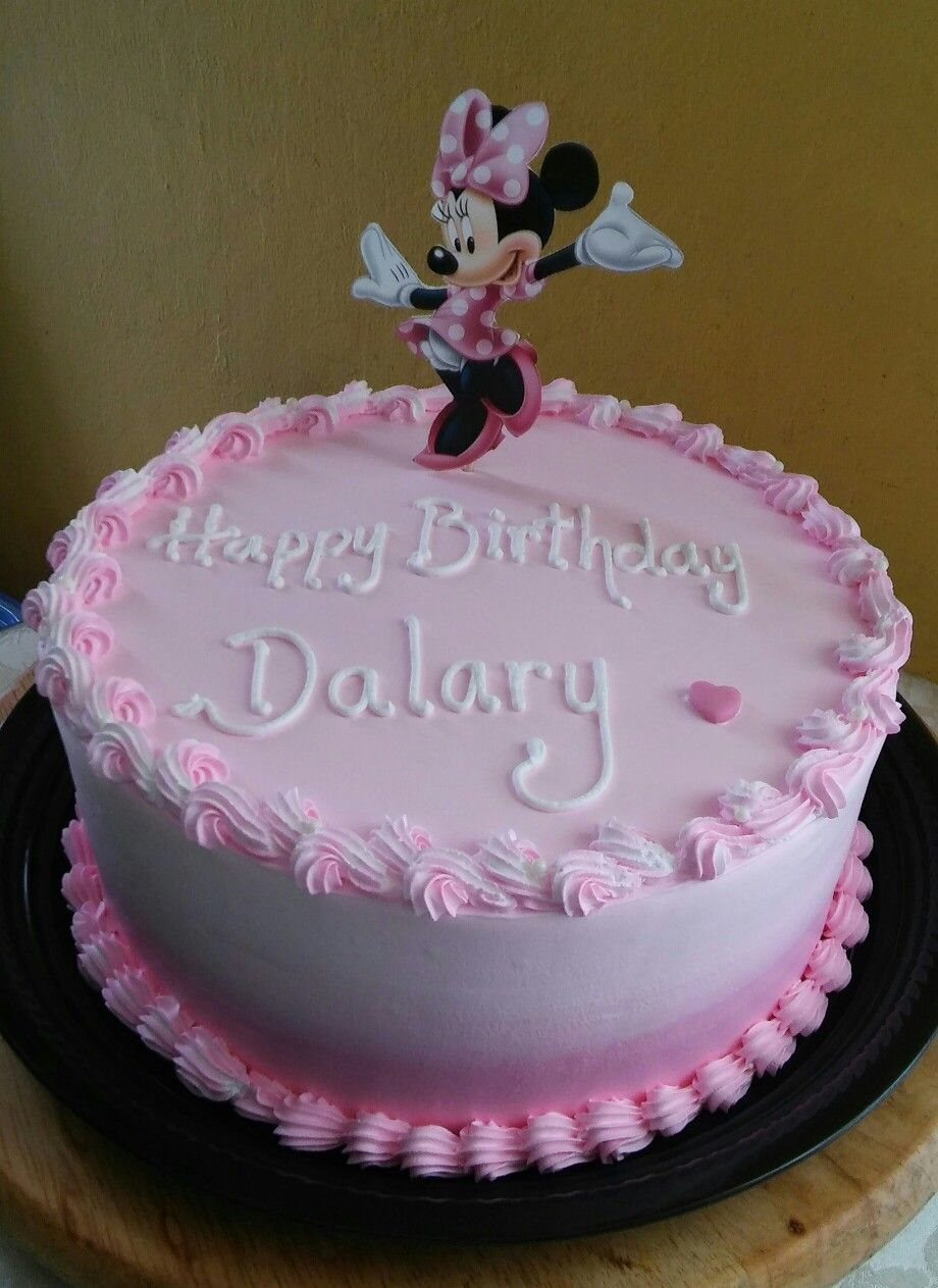 Mimi Mouse birthday cake   Cake, Queen cakes, Dairy queen cake