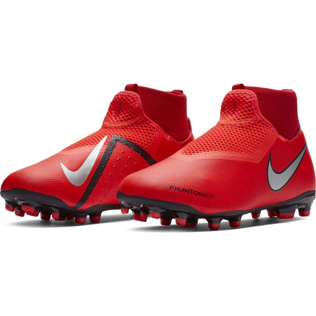 Buty Pilkarskie Nike Phantom Vsn Academy Df Fg Mg Jr Ao3287 600 Czerwone Czerwone