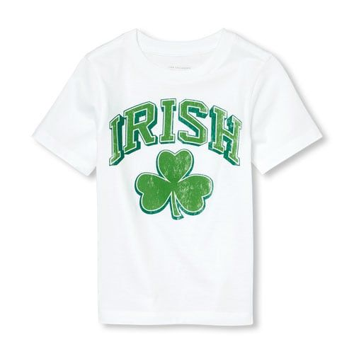 8b8e02cde Unisex Baby And Toddler St. Patrick's Day Short Sleeve 'Irish' Shamrock Graphic  Tee