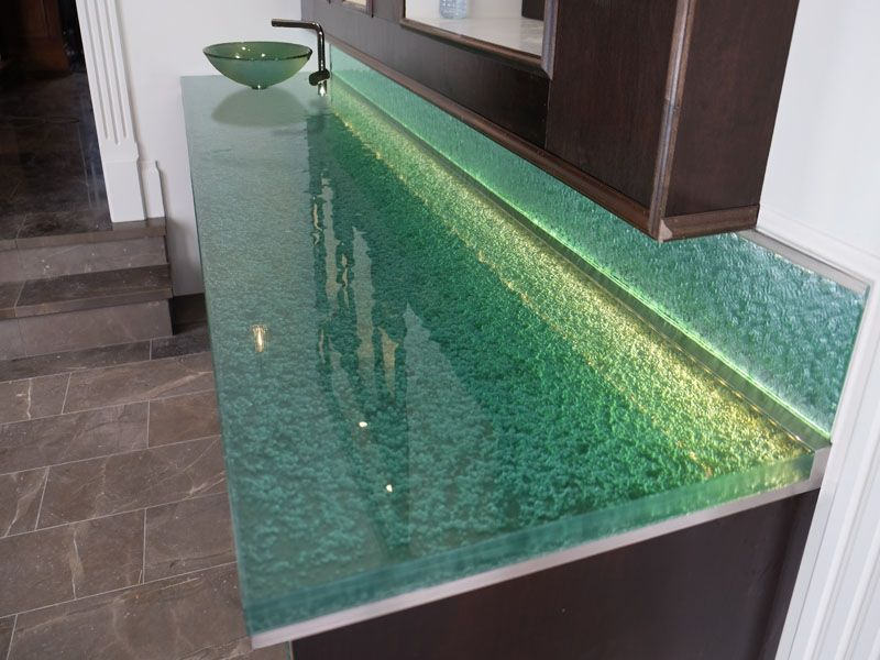 Custom Glass Bathroom Countertops For Sophisticated Look Glass
