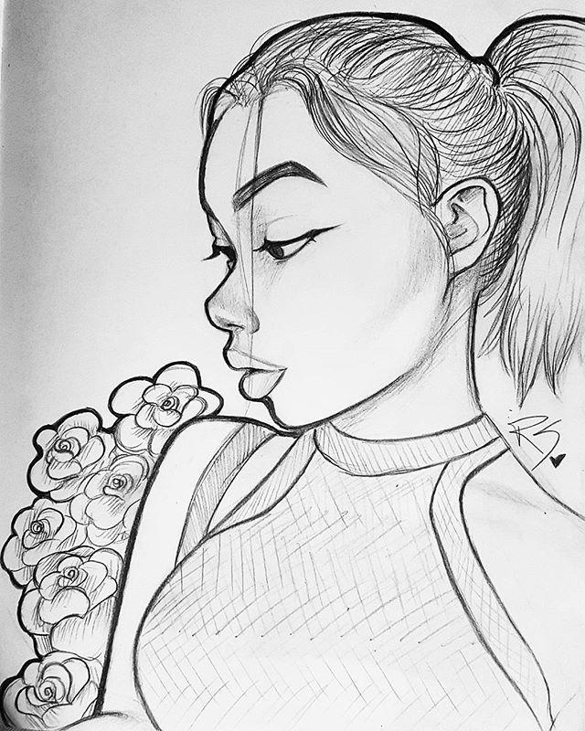 Line Drawing Face Profile : Pin von tҽɾҽʂą🥀 auf art in bιącƙ wɧıɬɛ pinterest