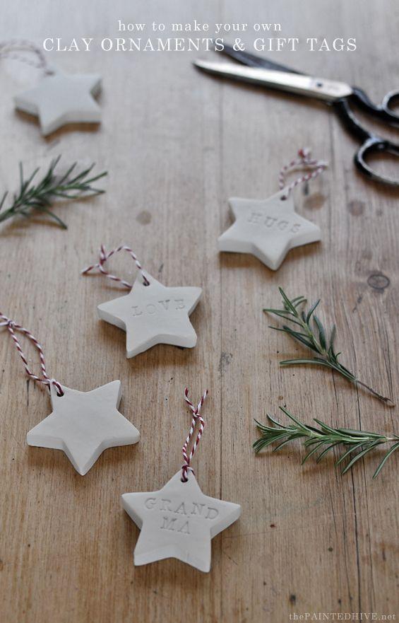 DIY clay Christmas ornament tutorial Happy