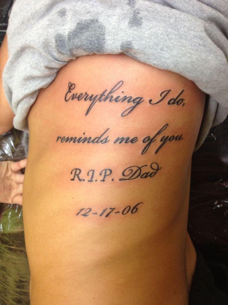 In Loving Memory: Memorial R.I.P. Tattoos - TatRing