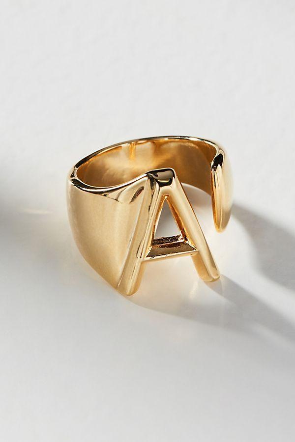 Monogram Wrap-Around Ring | Monograms, Anthropologie and Wraps