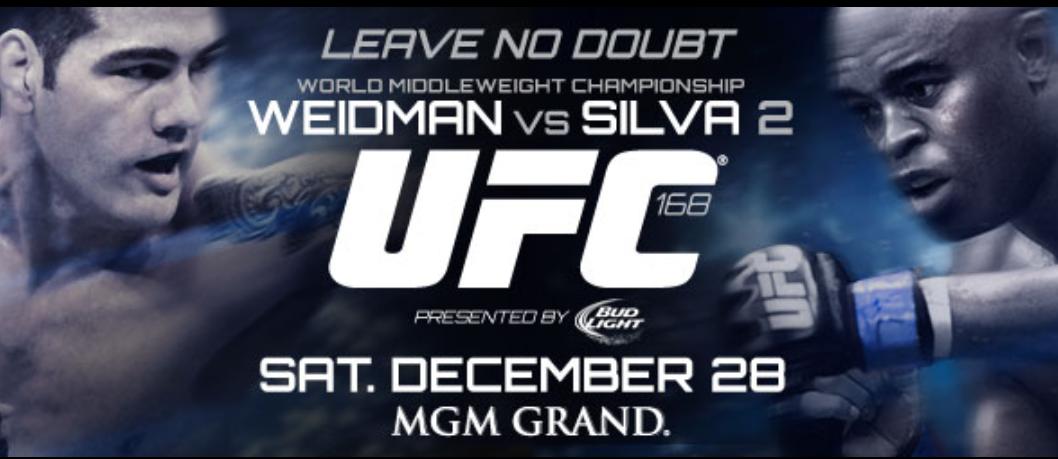 Watch UFC 168 PPV Anderson Silva vs Chris Weidman 2 Live