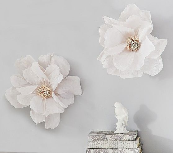 Crepe Paper Flower Decor Set Of 2 In 2019 Paper Flower