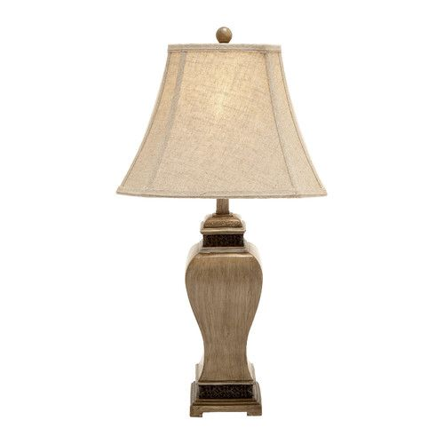 Decmode 97377 table lamp set of 2 the shapely silhouette of the decmode 97377 table lamp set of 2 boasts a curved and tapered polystone base accented
