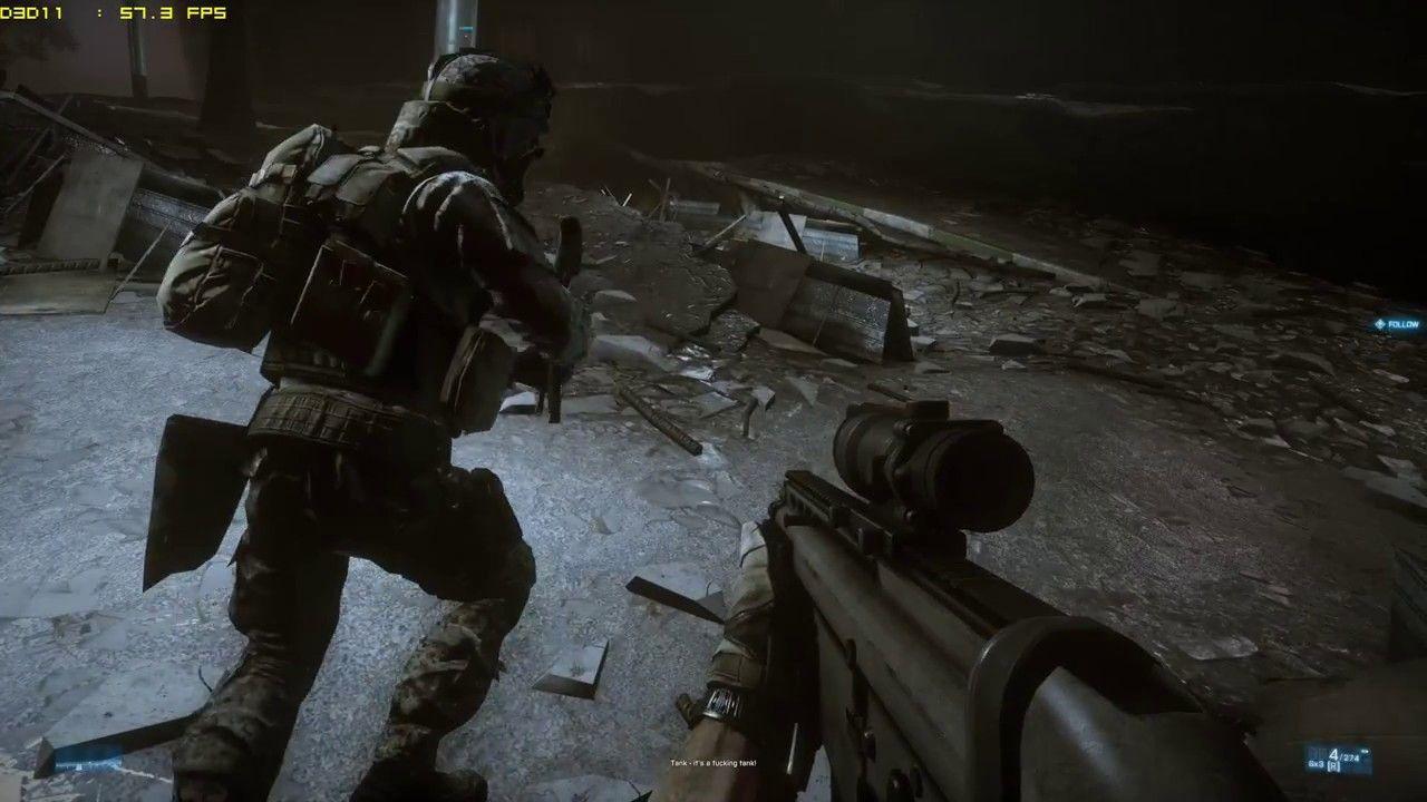 Battlefield 3 GTX 1060 6GB 4K FPS Gameplay | Allan's Gameplay Videos