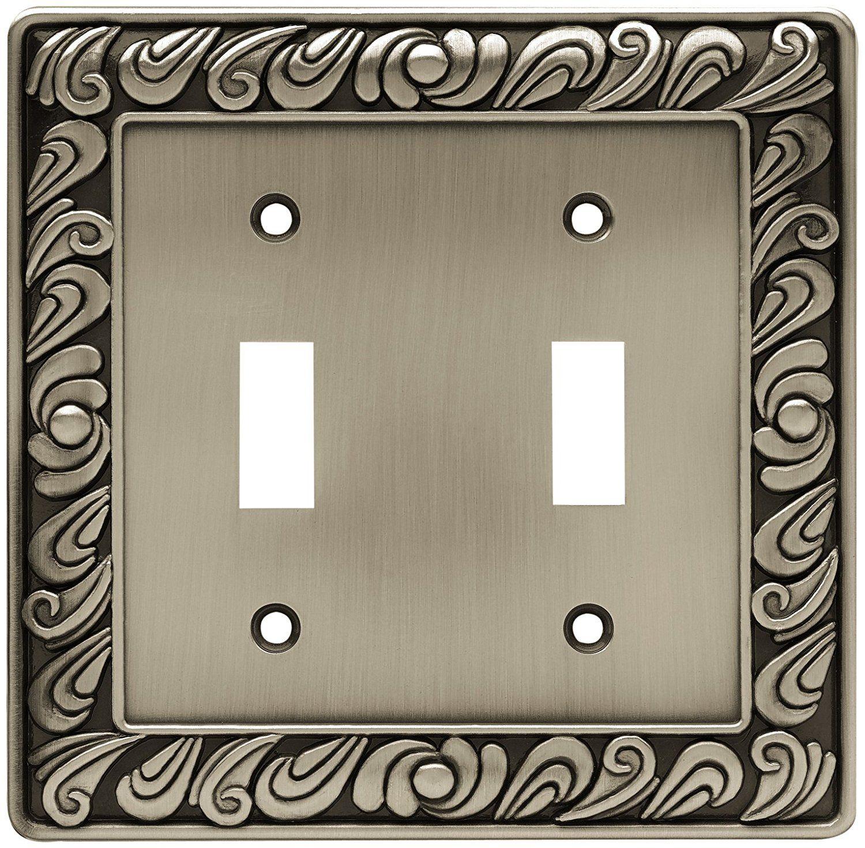 Wall Decor: Franklin Brass Paisley Single Duplex Outlet Wall Plate ...