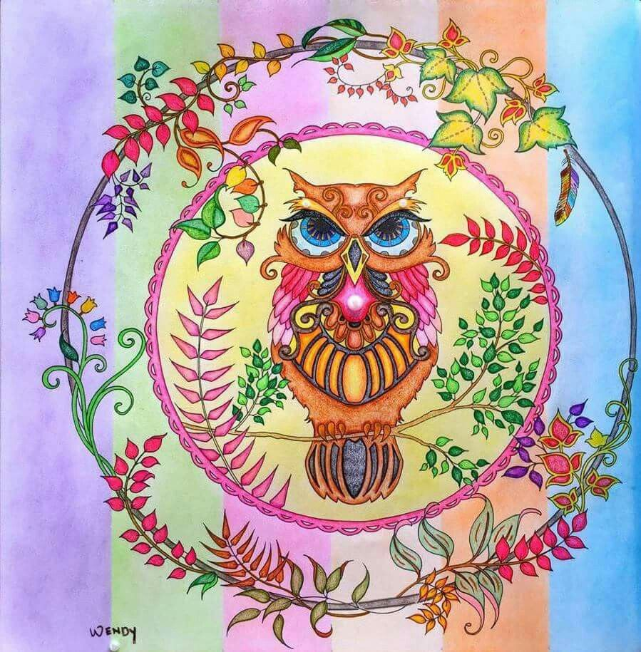 Colouring Coloring Books Art Therapy Owls Take A Peek At This Great Artwork On Johanna Basfords