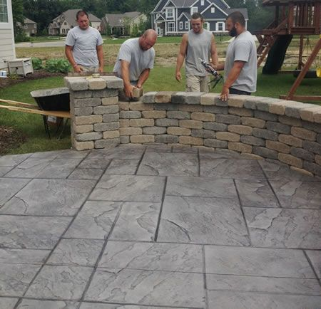 A New Stamped Concrete Patio U0026 Garden Wall! |