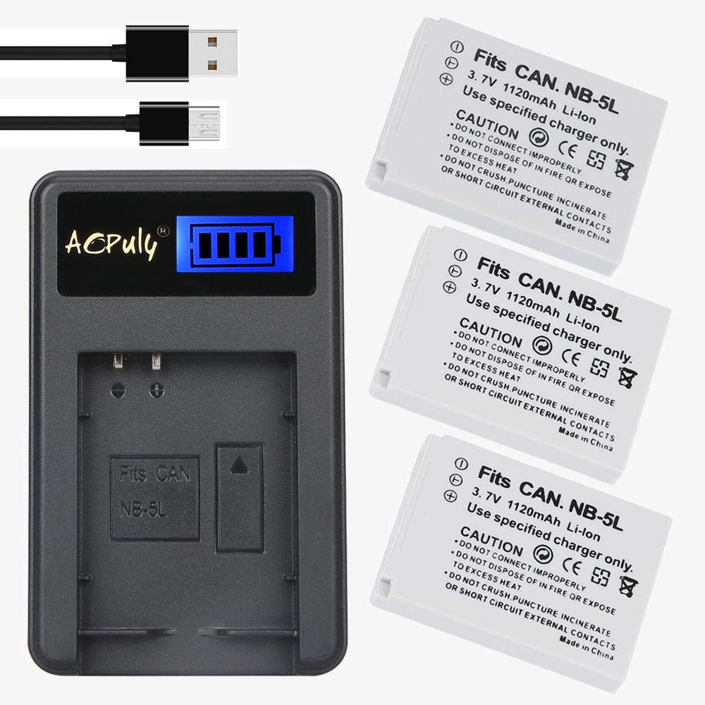 Aopuly 3pc Nb 5l Nb 5l Nb5l Rechargeable Battery Usb Lcd Charger For Canon Powershot S100 Sx200 Sx With Images Powershot Rechargeable Batteries Canon Powershot