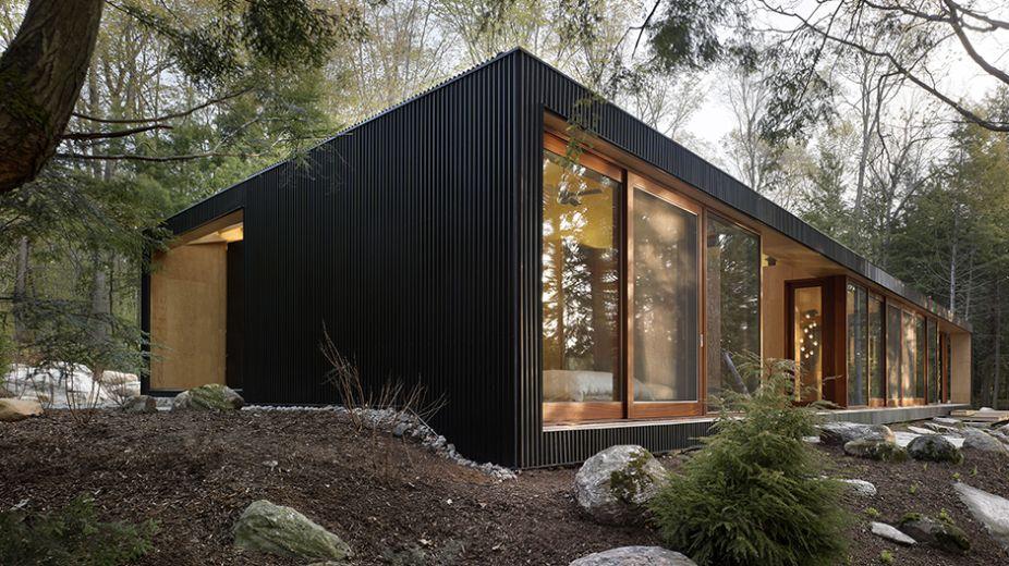 Designline Licht - Projekte Wellblech mit Seeblick designlines - schlichtes sauna design holz seeblick