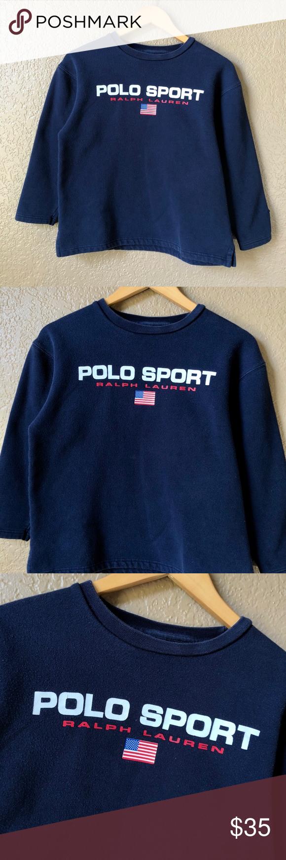 90s Polo Sport Ralph Lauren Flag Logo Crewneck Capital City Hype Is A Hand Curated Selection Of Stre Polo Sport Ralph Lauren Clothes Design Sweaters Crewneck