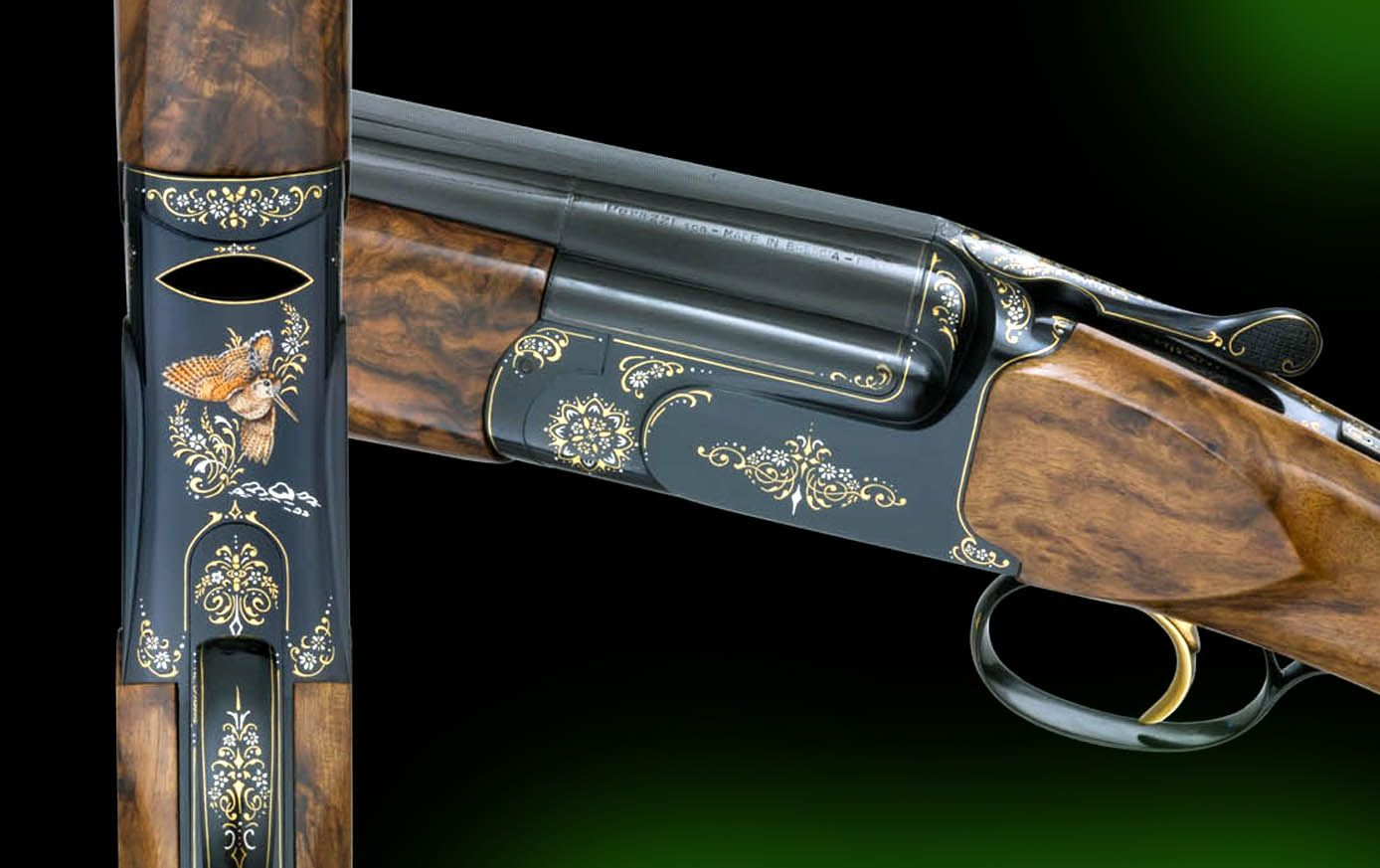 Perazzi Gold and Enamels engraving by Dassa Brothers Italy
